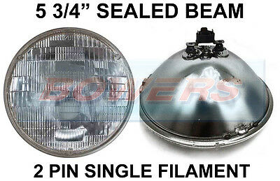 "5 3/4"" Genuine Sealed Beam Inner Headlight Headlamp Unit For Classic Cars Sb5712"