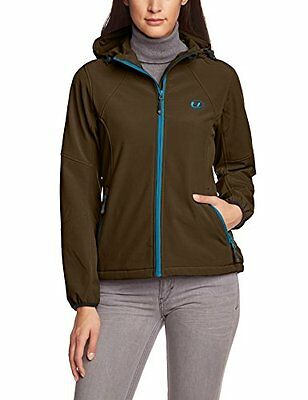 Taupe/Turchese (TG. XL) Ultrasport Estelle Softshell Giacca per Donna con Cappuc