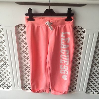 Girls Short Tracksuit Bottoms Joggers Age 9-10
