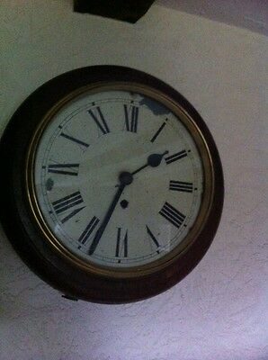 A Lovely Old Wall Clock In Full Working Order