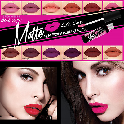 LA Girl USA Matte Pigment Lip Gloss - 16 Shades - UK Seller