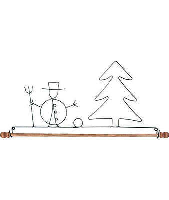 SNOWMAN & TREE QUILT HANGER HOLDER, With Dowel From Ackfeld Manufacturing NEW
