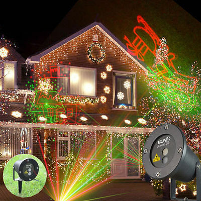 au en garten hof weihnachten dekor wasserfest led stern projektor laser licht eur 20 84. Black Bedroom Furniture Sets. Home Design Ideas
