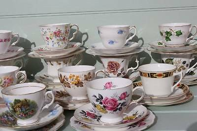 Vintage China Tea set - 4 x Trios - cups, saucers and side plates