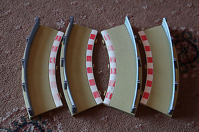 Scalextric 4 X Outer Radius 1 Borders  C8240 - Used Condition