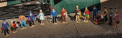 Lehmann L.G.R 'G' Scale x 13 figure bundle. Scenery, Vintage, Trains
