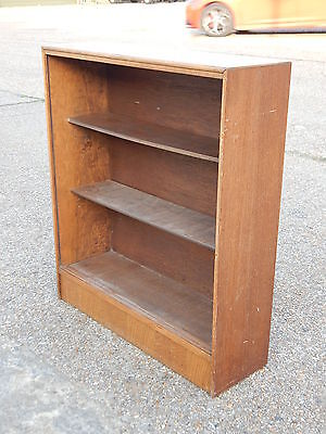 Vintage mid century solid oak bookcase bookshelf unit with 2 strong book shelves