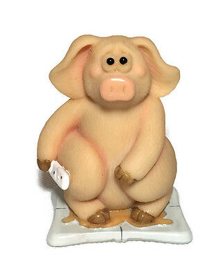 Piggon' Will Too Excited!!  Brand New Boxed Collectable Pig Figurine 14334 Gift