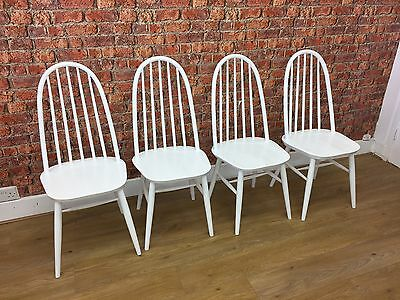 Set Of Four White Farmhouse Chairs