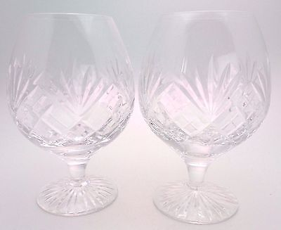 2 x Royal Doulton WESTMINSTER Clear Crystal Brandy Glasses