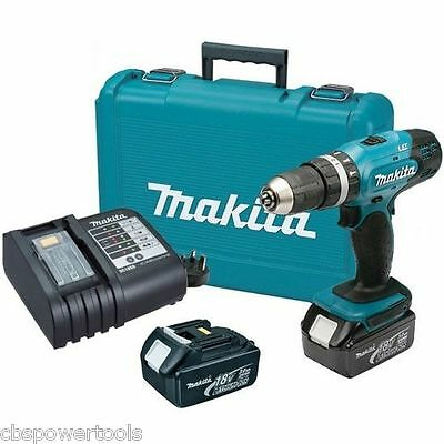 MAKITA DHP453SFE 18v LXT Combi Drill with 2 x 3.0Ah Batteries & DC18SD Charger
