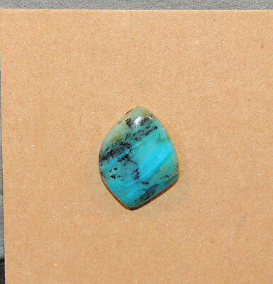 Peruvian Blue Andean Opal 15x11.5mm with 3.5mm dome Cabochon from Peru (11511)