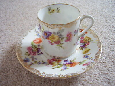 Antique German Dresden porcelain cup and saucer,perfect condition