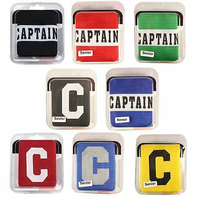 Captains Armband for Football Soccer Hockey Big C & Captain Styles All Colours