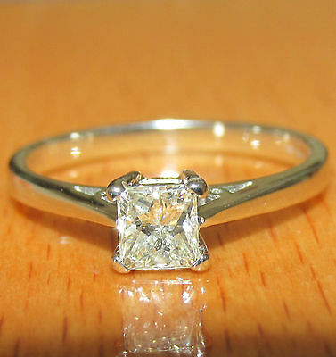BEAUTIFUL SECONDHAND  18ct WHITE  GOLD 0.33ct  DIAMOND SOLITAIRE RING SIZE I1/2