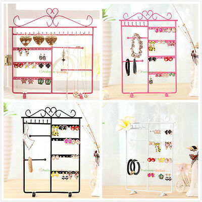Wall Earrings Necklace Ear Studs Jewelry Display Rack Stand Organizer Holder