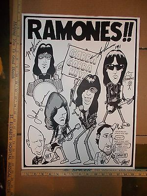 Ramones SIGNED POSTER/PICTURE