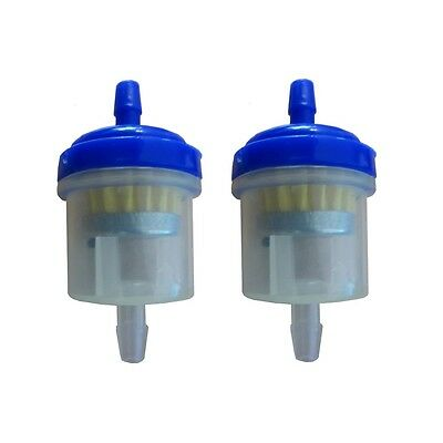 Universal Motorcycle Scooter Car Inline 6mm Magnetic Clear Fuel Filter Blue x2