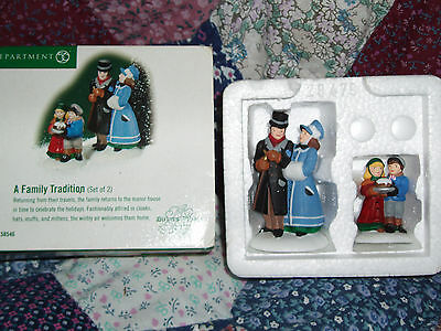 DEPT 56 DICKENS' VILLAGE Accessory A FAMILY TRADITION NIB