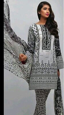 Indian Asian designer shalwar kameez Auj khder 3 piece suit