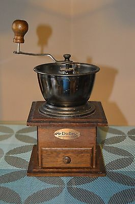 Mr Dudley International Hand Crank Coffee Mill Grinder Vintage