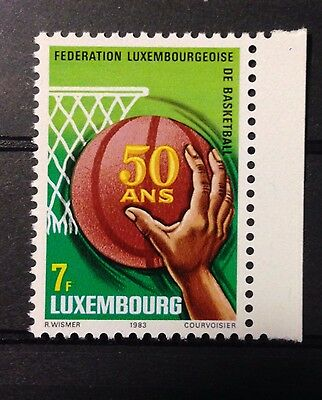 Basketball Stamp 50th anniversary of the Luxembourg Basketball Federation