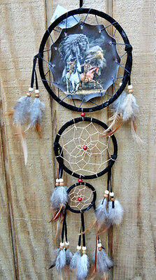 20'' Long Indian efficient hunters  Dream Catcher with Real Feathers, New