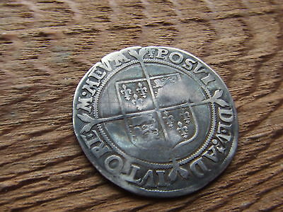 ELIZABETH 1st    SILVER SHILLING.  VERY  RARE TYPE. 1558-1560  NICE CONDITION.