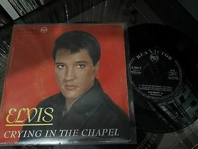 """ELVIS Crying In The Chapel + 3 7"""" SPAIN 1965 RCA Victor – 3-20919"""