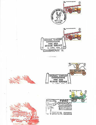 Fire 1974 Various Special hand Stamps.