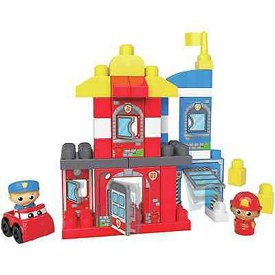 Mega Bloks Fisher-Price 40 pc First Builders Rescue Squad Fire Fighter Toys NEW
