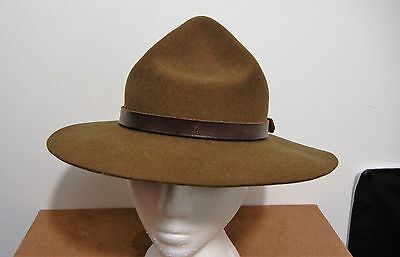 1960's OFFICIAL BOY SCOUT OF CANADA HAT STETSON LEATHER BAND EXCELLENT CONDITION
