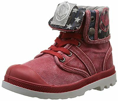 (TG. 32) Rosso (Rosso (rosso)) PalladiumBaggy Flag - Stivali Unisex - Bambini,