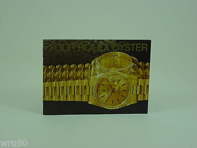 Genuine Rolex booklet vintage Your Rolex Oyster instruction 1996