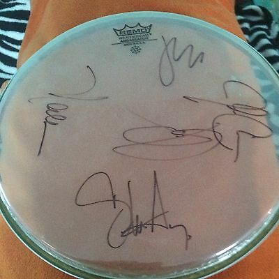 Journey Autographed Drum Head Signed By The  Entire Band