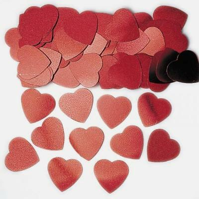 Jumbo Coeurs Rouges Vermicelles Confetti 14g - St. valentin/Mariages