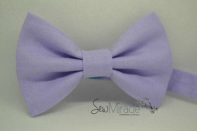 Linen bow tie*Sizes 0-10*Lavender Linen Handmade Bow tie