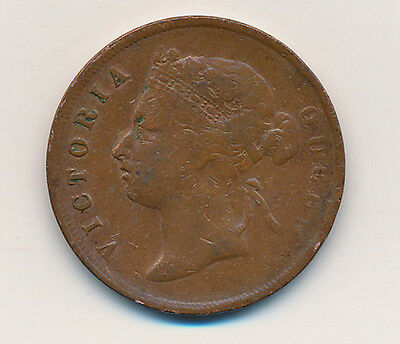 1885 Straits Settlements, Queen Victoria One Cent
