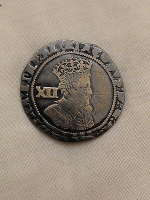 james i silver shilling hammered coin 1st