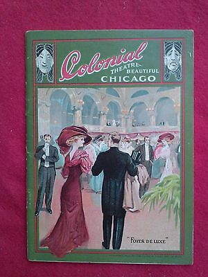 1913 Colonial Theatre Playbill Chicago Edelweiss Beer Advertisement