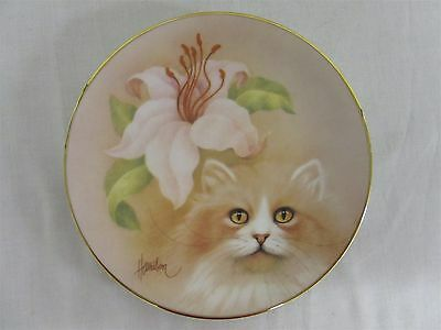 "Hamilton Collection Petals and Purrs ""Golden Fancy"" collector's plate"