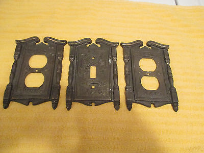 American Tack Hdwe Co Light Switch Cover Plate 1776 Fyfe Drum Outlet Brass Set