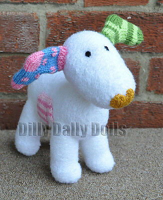 Hand Knitted Christmas Toy Ornament Raymond Briggs The Snowman's Snowdog