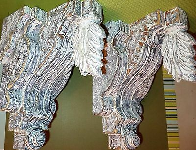Large Decorative 1880's  Victorian Style AGED  Corbels  designs*by*me  Originals