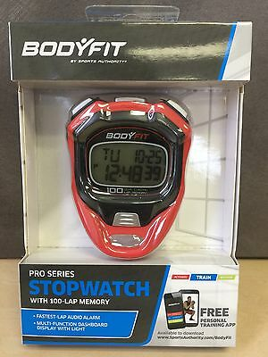 NEW, Bodyfit All-purpose Stopwatch Pro Series With 100-Lap Memory
