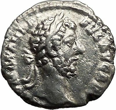 Commodus son of Marcus Aurelius 186AD Silver Roman Coin Happiness Cult    i36388