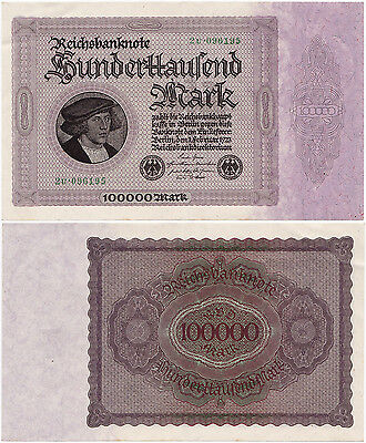 Germany, 100000 Mark 1923, Pick 83a, Ros. 82d, XF