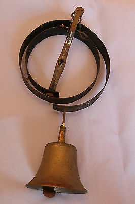 Brass and Black Coiled Metal Butlers Bell Ship Worldwide