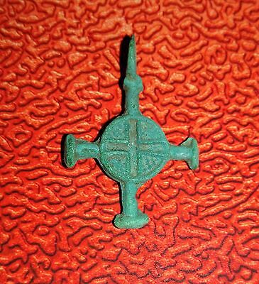 Ancient Viking Bronze Cross Pendant -Kievan Rus.