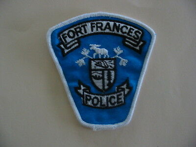 FORT FRANCES POLICE, ONTARIO, CANADA. Rare Obsolete Patch